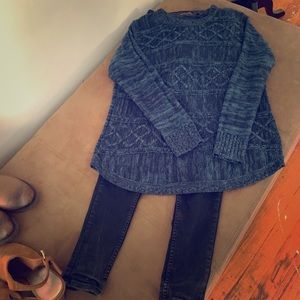 Mixed light weight sweater pullover